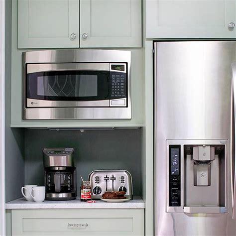 breakfast nook cabinets kitchen coffee station cottage kitchen bhg