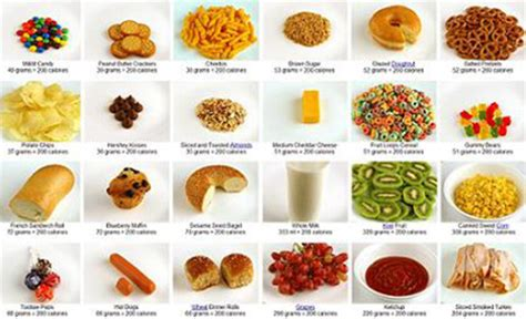 new year treats calories what 200 calories looks like as various foods techeblog