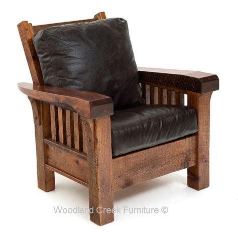 rustic lounge chair mission chair ranch chair cabin - Mission Style Lounge Chair