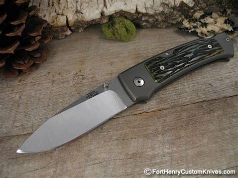 henry knives bob dozier xl lockback fort henry custom