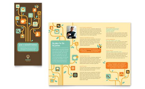 business services tri fold brochure template word