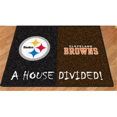 house divided merchandise fanmats nfl house divided mat 176396 sports fan gifts at sportsman s guide