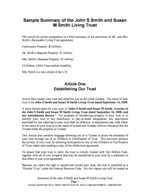 Revocable Living Trust Sle Forms And Templates Fillable Printable Sles For Pdf Word Revocable Trust Template
