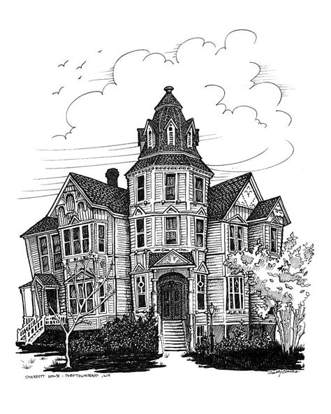 starrett house drawing by ernestine grindal