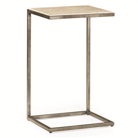 rectangular accent tables hammary modern basics rectangular accent table with bronze