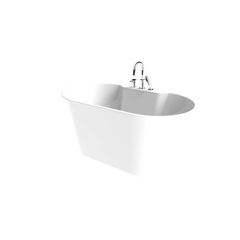 all in one bathtub renwil coral 56 in acrylic freestanding flatbottom non whirlpool bathtub in white all