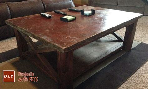 How To Stain A Coffee Table How To Make A Concrete Coffee Table With A Trowel Finish This Is Beautiful And Easy To Build