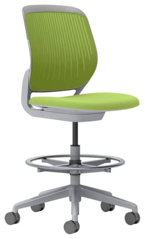 Steelcase Cobi Stool by Steelcase Cobi Stool Platinum Frame Soft Casters Wasabi Modern Office Chairs By Design