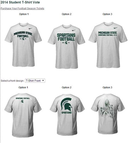 student section t shirts worst msu student section shirts ever