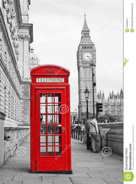 mappa cabine telefoniche cabina telefonica rossa e big ben a londra immagine stock