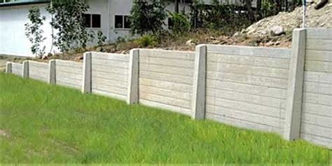Sleeper Retaining Wall Systems by Concrib Concrete Sleeper Retaining Wall System