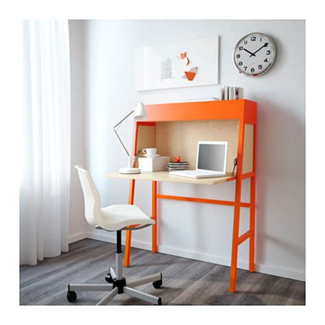 table bureau ikea ikea ps 2014 bureau orange birch veneer 90x127 cm ikea