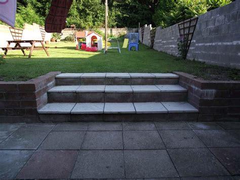 garden banister banister hand rail along garden retaining wall steps