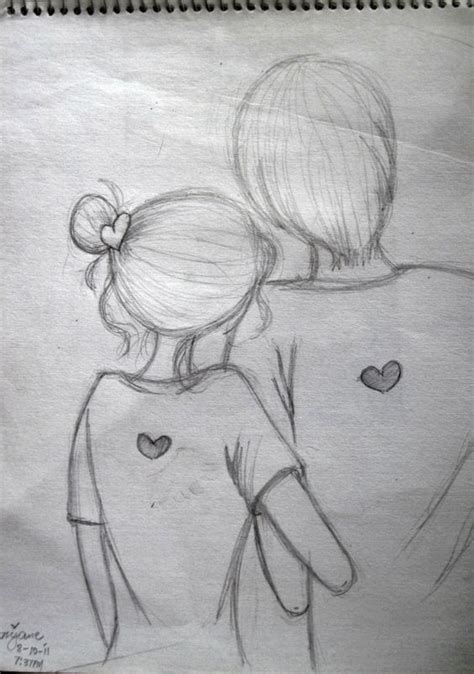 couples in love drawings easy pencil sketch of couples google search doodles