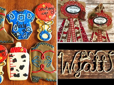 Baby Shower Cowboy Theme Ideas by Western Themed Baby Shower Decorations And Favors