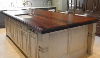 heritage wood island in black walnut modern kitchen