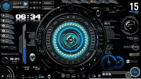 computer interface themes s h i e l d os iron man the real hero desktop by