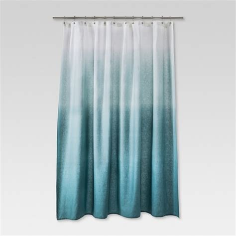blue shower curtains ombre shower curtain blue threshold target