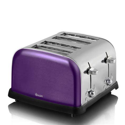 Purple Toaster swan metallic 4 slice toaster purple iwoot