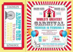 carnival birthday invitations theruntime