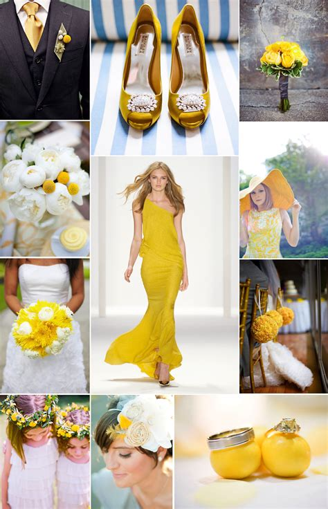 spring summer wedding color palettes lemon yellow onewed com