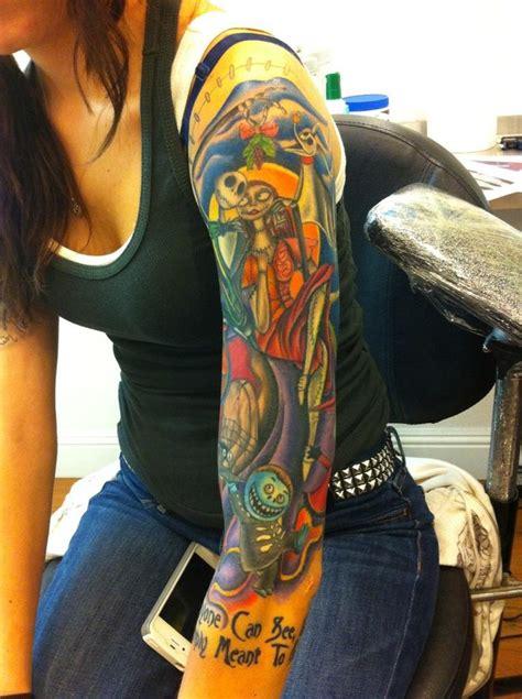 nightmare before christmas tattoo sleeve nightmare before kewl tattoos