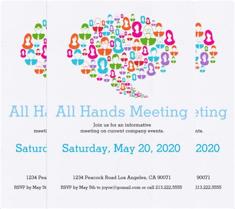 meeting place cards template sle invitation letter dealer meet choice image