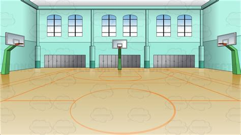 indoor basketball court background clipart vector