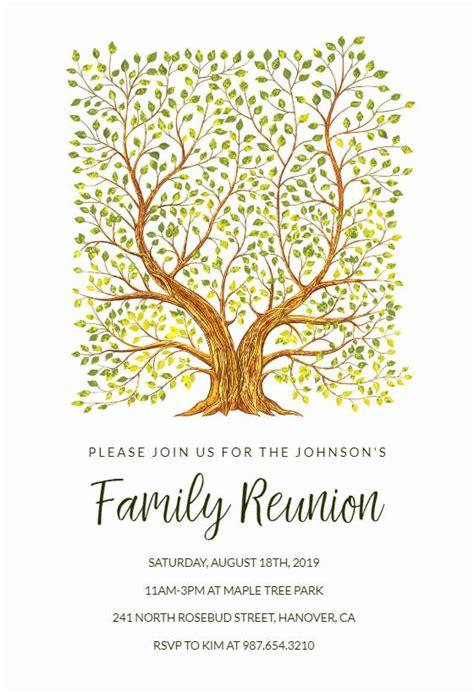 Family Gathering Gathering Invitation Template