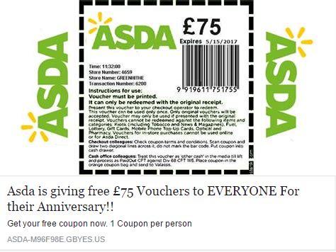 printable grocery vouchers uk warning asda voucher facebook scam