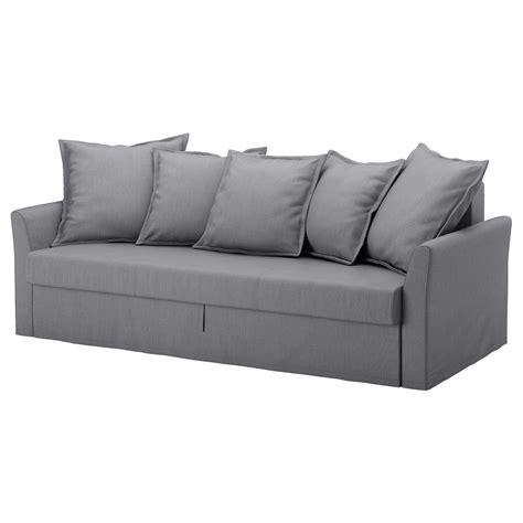 holmsund sofa bed review holmsund three seat sofa bed nordvalla medium grey ikea