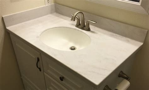 Installing Vanity Top by How To Install Corian Solid Surface Vanity Tops