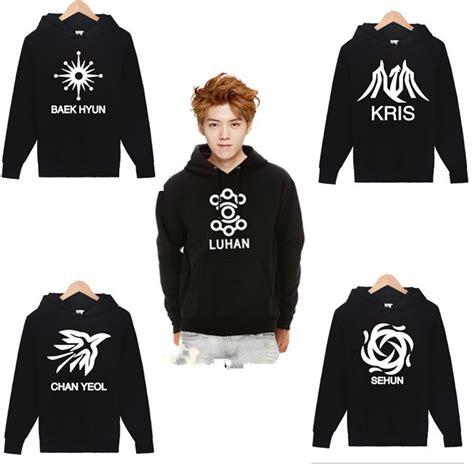 Supreme Hoodie Hoody Jacket Sweater Black Exo Got7 Gd Kpop sweater exo sweater jacket