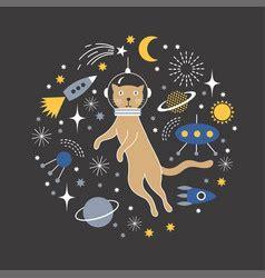 Vector Cat In Space cat astronaut vector images 77