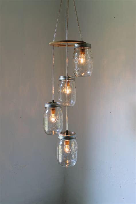 jar chandeliers spiral jar chandelier rustic hanging jar pendant