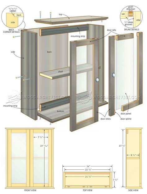 cabinet design plans free bathroom wall cabinet plans woodarchivist