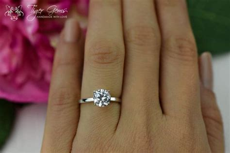 Classic Engagement Rings by 1 5 Ct Classic Engagement Ring Made Simulant
