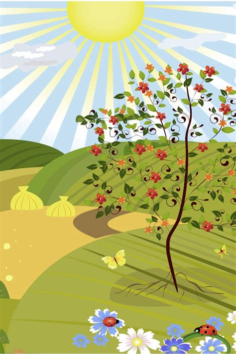 Green Cartoon Landscape   iPhone Wallpapers