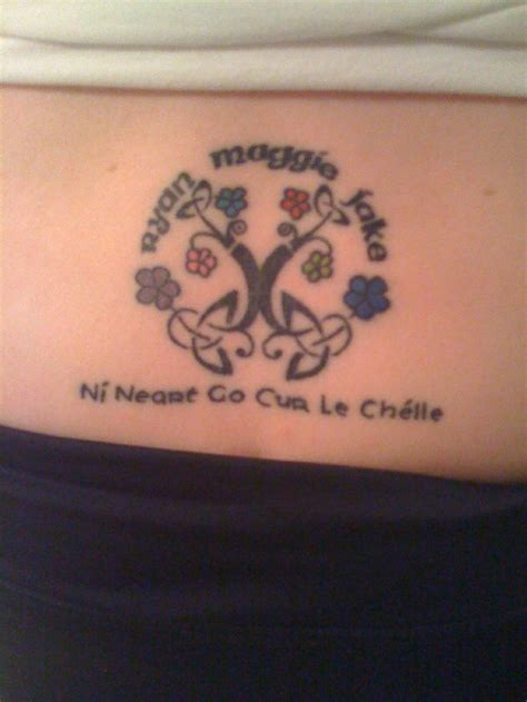 tattoo representing family gaelic quotes about strength quotesgram