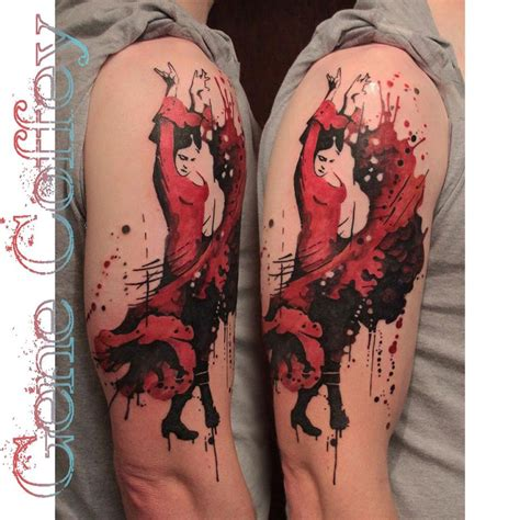 flamenco dancer tattoo best tattoo design ideas
