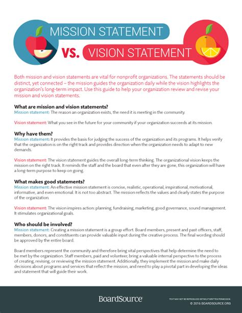 mission statement for non profit template oversight and accountability boardsource