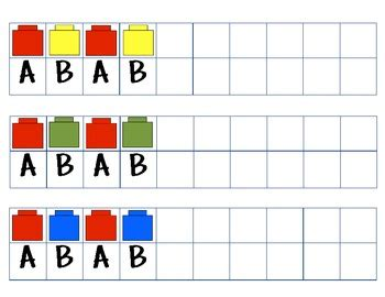 pattern activities with unifix cubes ab pattern cards with unifix cubes blocks bears by