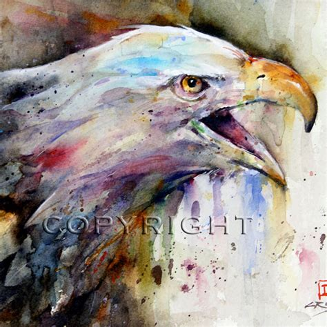 bald eagle painting watercolor print by dean by deancrouserart
