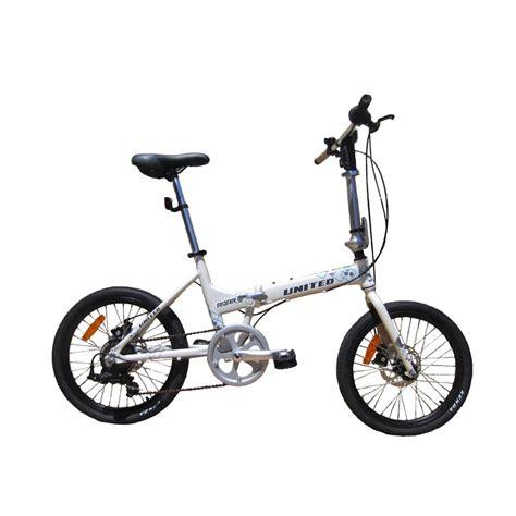 Tas Sepeda Bagian Depan Setang Lihat Peta Bike Touch jual united roar sepeda lipat putih 20 inch harga kualitas terjamin blibli