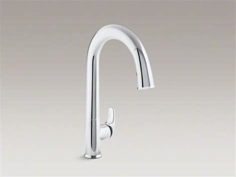 kohler sensate kitchen faucet kohler sensate tm touchless kitchen faucet with black