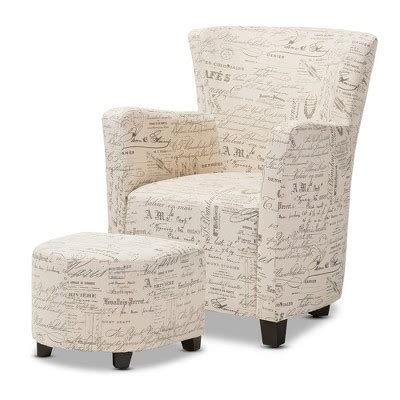 fabric ottoman aiomp3s club benson french script patterned fabric club chair and