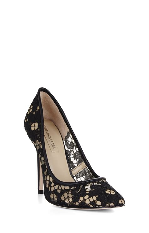 high heel lace bcbgmaxazria opia high heel lace pointed toe in black