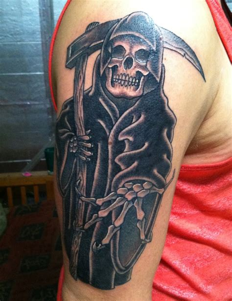 traditional grim reaper tattoo grim reaper tattoos design ideas magment