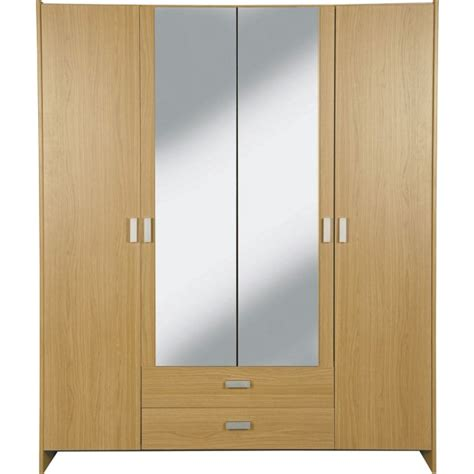 Argos Wardrobes Clearance by Buy Home New Capella 4 Dr 2 Drw Mirrored Wardrobe Oak