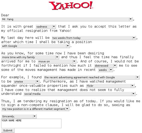 Humorous Resignation Letters by Fludinpia Funniest Resignation Letter